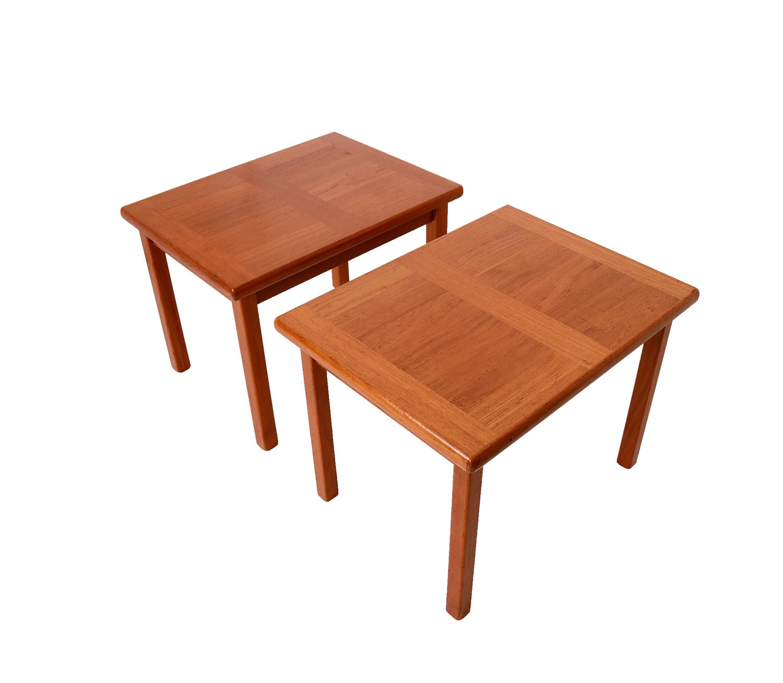 Teak Side Tables Made by A B J Danish Modern 1970