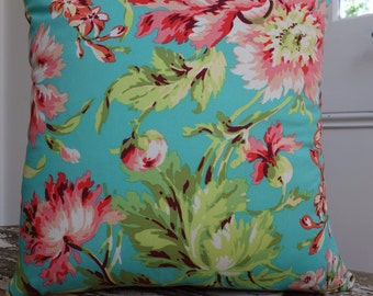 Amy Butler Love Bliss Bouquet Teal 45cm Cushion Cover/pillow