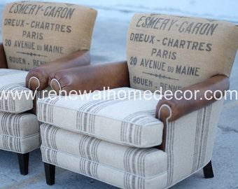 Custom Club Chairs
