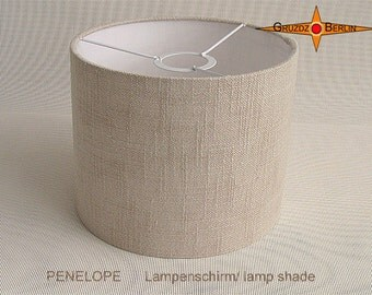 Natural coloured lamp shade linen PENELOPE d30 cm beige lamp shade