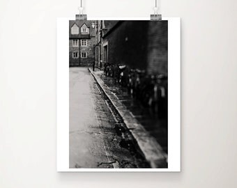 cambridge photograph street photography black and white photograph travel photography english decor bicycle photograph travel print