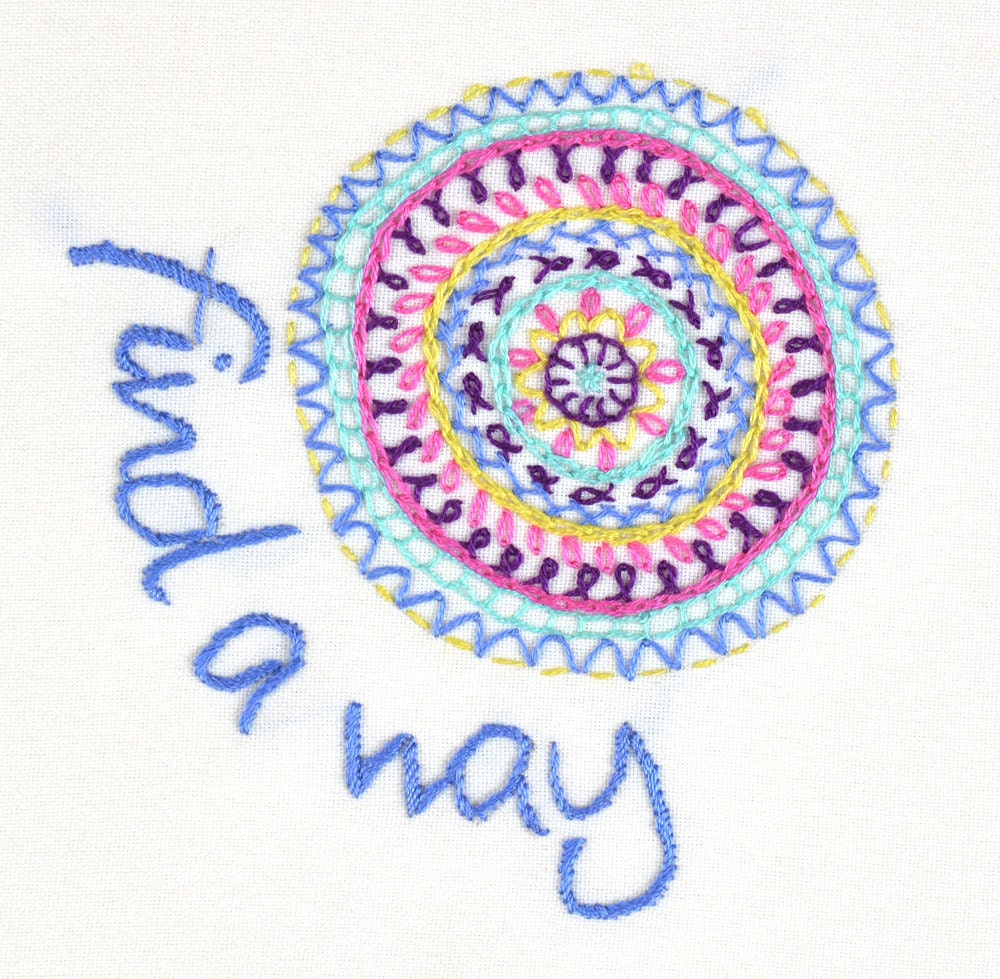 Embroidery kit find a way incl threads needle