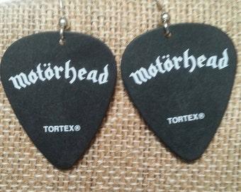 One of a Kind Motorhead Guitar Pick Earrings