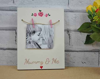 Mummy and Me Hand Painted Photo Block