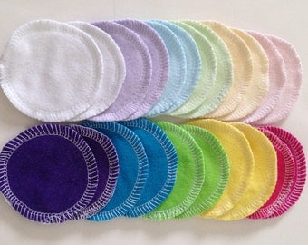Reusable Cotton Rounds,  Random Solid Colors,Washable Makeup Remover Pads,Facial Cleansing Rounds, Facial Scrubbies