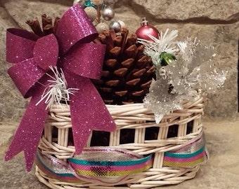 Christmas decoration baskets