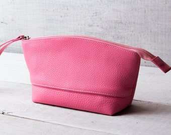 SALE Toiletry bag women monogrammed cosmetic bag cosmetic organizer cosmetic case cosmetic pouch make up bag cosmetic box leather pouch
