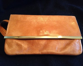Small 12inch Leather Clutch Handbag