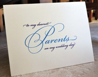 To My Parents Mother Father Cards On My Wedding Day Formal Thank You