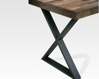 Table Legs Steel - X - Black Matte (Pair)