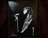 "Jim Morrison of the Doors in Dark and Light is a Limited Edition, numbered, 10""x13"" Print Of Original Art by Artist Charles Freeman"
