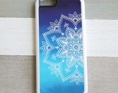 Mandala iphone 6 / iPhone 5S Case / Blue Ombre iphone case / iPhone 4s, Samsung Galaxy S 5 4 3