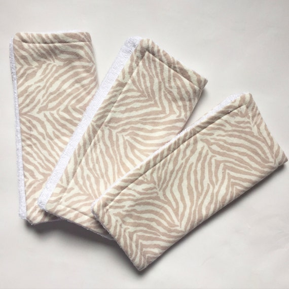 Wash Burp Cloths Before Use: Zebra Burp Rag Cloth Teether Wash Cloth By BearCubThreads