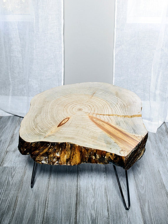 Wood Slice Table End Table Coffee Table or by CraftsManhattan