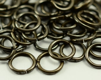 150 Pieces Antique Bronze 8 mm Strong Jump Ring Connector-1 mm of Thickness