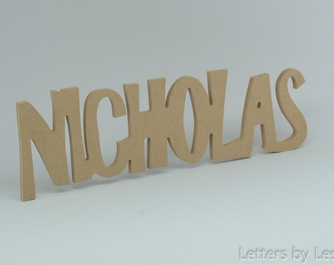 Personalized Wooden Name Signs, Children's Wall Names, DIY Unfinished Wooden Wall Name Sign, Unfinished Wooden Letters