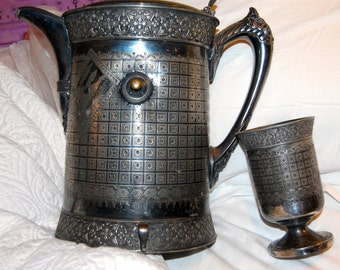Rogers & bros pitcher and cup triple plate patent nov 1885