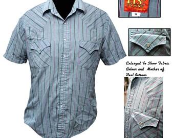 Vintage Western Shirt / Mens Western Shirt / Cowboy Shirt / Rockabilly Shirt / Hipster Shirt