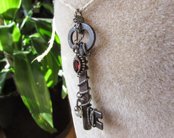 Antique Wire Wrapped Charming Key