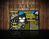 Baby Batman Baby Shower Invitation / Birthday Invite/ hero party