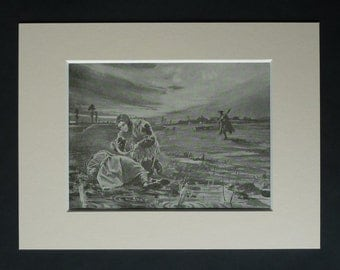 Antique WWI British Army Print, WWI Battlefield Picture, JA Pouchot, First World War Hero Decor, Available Framed, War Art, Corporal Tibbs