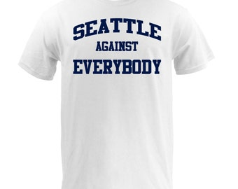 Seattle Against Everybody - Navy on White