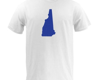 Distressed New Hampshire State Shape - White