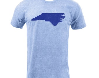 Distressed North Carolina State Shape - Athletic Blue