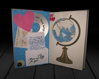Long Distance Love Altered Book