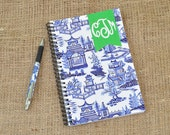 Monogrammed Personalized Chinoiserie Notebook Journal