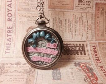 """Alice in Wonderland """"Six Impossible Things"""" Necklace"""