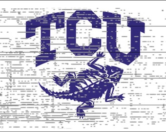 Texas Christian University Horned Frogs Rustic Sign - TCU