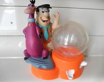 Fred Flintstone and Dino Gum Ball Collectible Dispenser Stamped Hanna-Barbara Productions