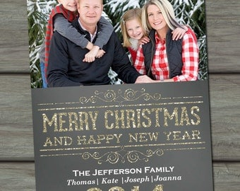 Personalized Christmas Card, Christmas Card, Christmas Photo Card, Christmas Photograph Card, Holiday Card, Photo Christmas Card
