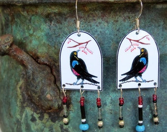 Crowberry Image earrings very light and dangly
