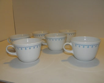 Corelle Snowflake Coffee Cups