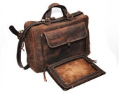 Organiser Convertible Leather Backpack, Briefcase, Backpack and Messenger Bag all in one, Laptop and iPad