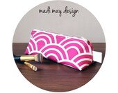 BOGO Sale Triangle Makeup Pouch - Travel Bag - Pink Cosmetic Bag - Makeup Bag - Toiletry Bag - Pencil Case - Pencil Bag - Gifts