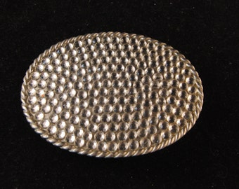 Vintage metal belt buckle with stones