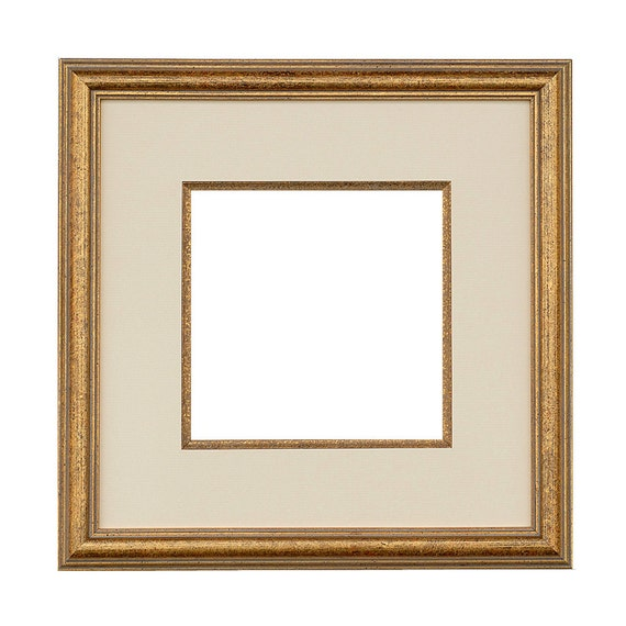Wood Frame Vienna 30x30 Cm With Mat And Fillet Image Size