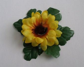 6 Leaf Sunflower Hair Clip