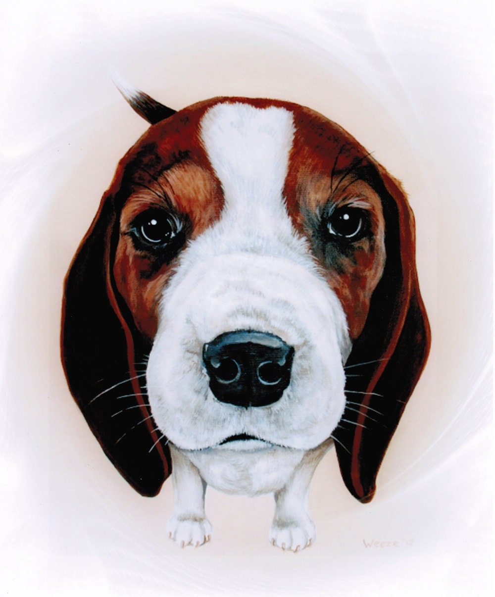 Beagle Beagle Art Beagle Print Beagle Painting By Artbyweeze
