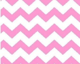 1/2 inch Chevron --- Pink Chevron ---- Light Pink Chevron --- Small Chevron --- Fabric By The Yard