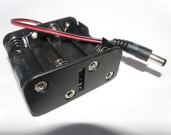 The Octopak 1-s (Tm) - AA Battery Power Supply for RGB LED Strip Light