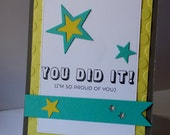 You Did It Graduation Star Card Celebration