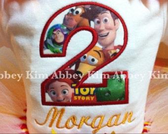 Age appliqué toy story t shirt