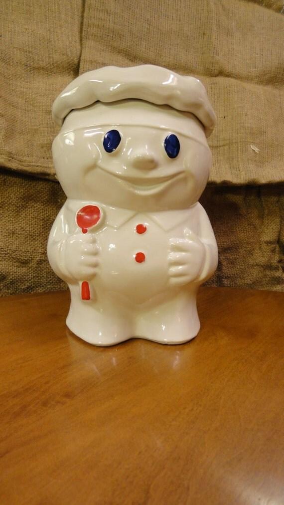 Vintage Mccoy Pottery Doughboy Cookie Jar