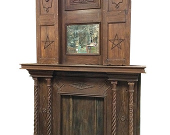 Antique indian doors antique indian sideboard indian for Mirror 72x36