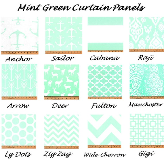 Custom curtains pair drapery panels green curtains 24 quot wide 52 quot wide
