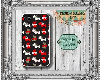Scotty Dog iPhone Case, Christmas iPhone Case, Holiday iPhone Case, iPhone 4, iPhone 5, 5s, 5c, iPhone 6, 6s, 6 Plus, SE, iPhone 7, 7 Plus